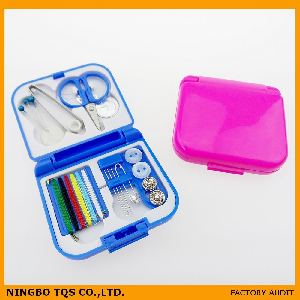 Mejor venta portable mini kit de costura kit set hotel kit de costura en caja de pl stico - Set de costura ...