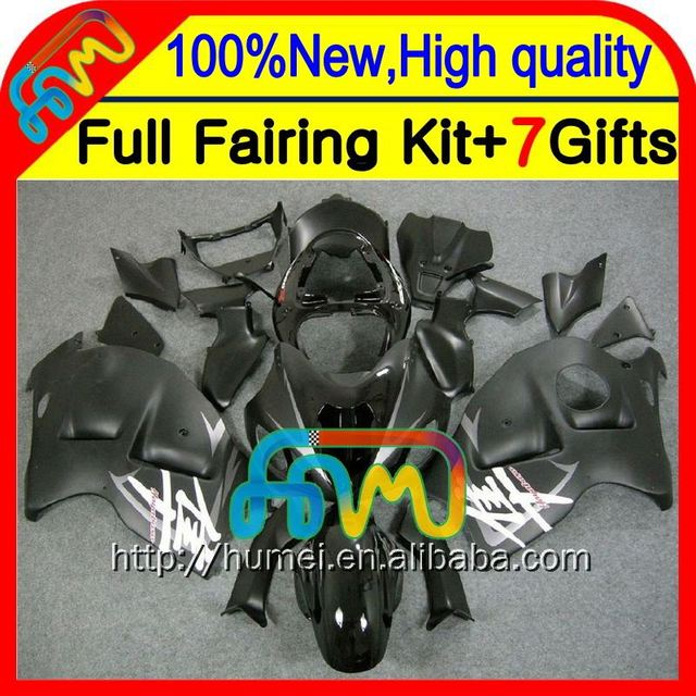 8Gifts For SUZUKI Hayabusa GSXR1300 Stock black 96 97 98 99 00 01 15HM17 GSXR 1300 GSX R1300 GSXR-1300 02 03 04 05 06 07 Fairing