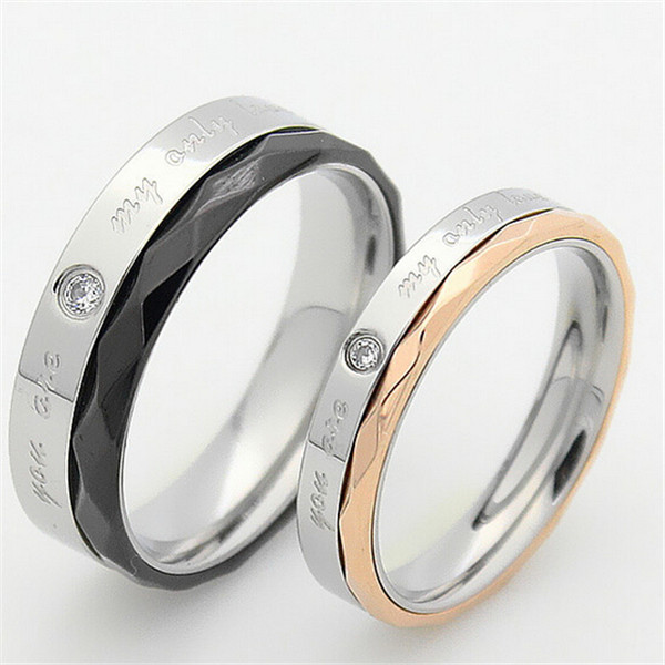 146349d8b6eeda Yiwu Aceon Wholesale products best seller Stainless Steel Two Tones fashion  letter engagement ring