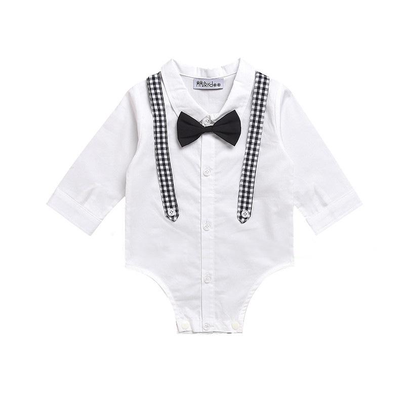 606114116 Impresión bebés y niños ropa de moda Bebé Ropa mamelucos bebé niños camisa  de vestir