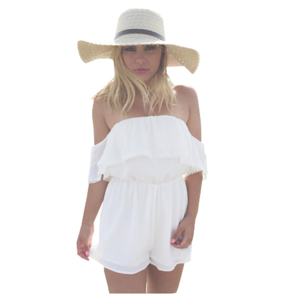79379e945a265 Get Quotations · Summer Overalls jumpsuits Sexy Ruffles Lace bodysuit White  Women jumpsuits ladies overall monos for women monos