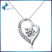 white gold plated Silver jewellery female pendant necklaces