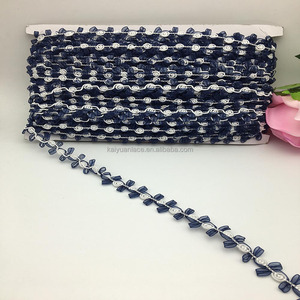 tailoring accessories trimming rosette lace ribbon navy flower chiffon rose bud chain rosebud braid trim