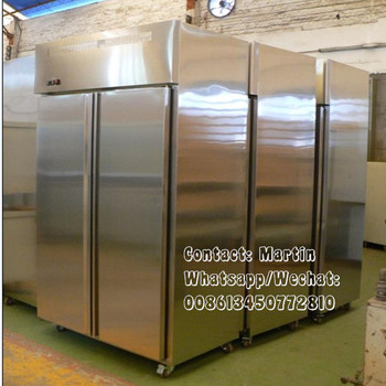 Stainless steel kitchen upright refrigerator for Hotel use