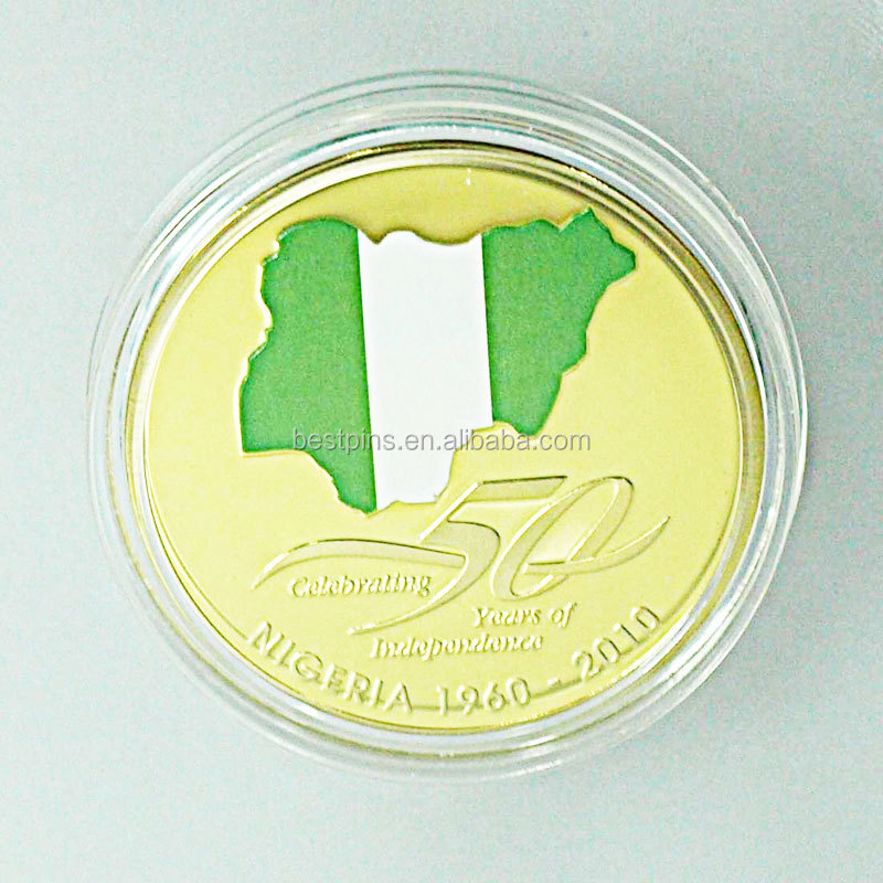 Gold Nigeria Map 50th Anniversary Medallion Coin Of Nigeria Fedral College