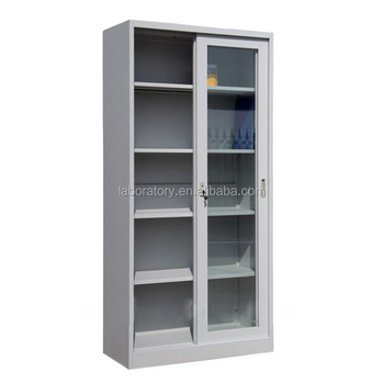 Aluminum And Wood Lab Glassware Storage Cabinet And Utensil Drawer Cupboard