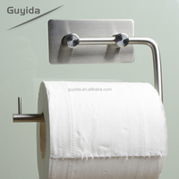 Kitchen or bathroom roll tissue metal no drill toilet paper holder stand