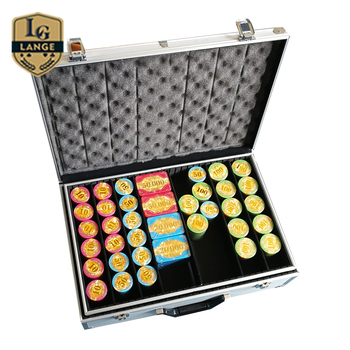 casino royale chips Texas Hold'em 800pcs poker chips set in silver aluminum case
