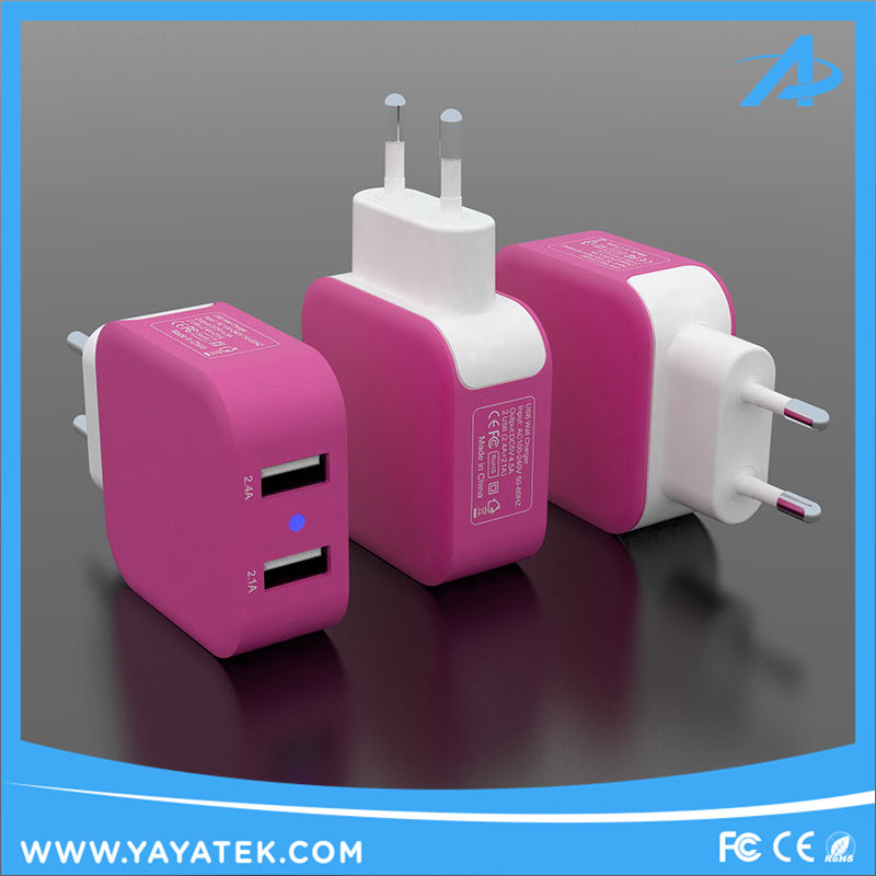 Wholesale Price 5V 3.4A Travel Wall USB Quick Smart Charging Adapter Charger