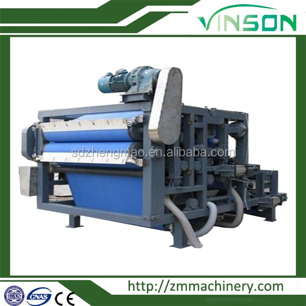 High quality silica water treatment equipment-belt filter press with the medicine adding device.