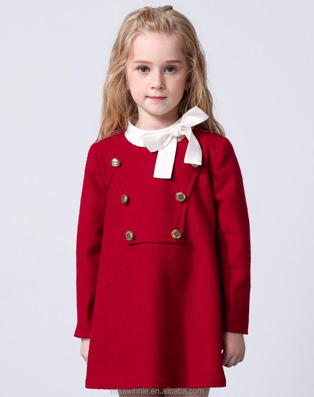 Modelos de vestidos manga larga para ninas
