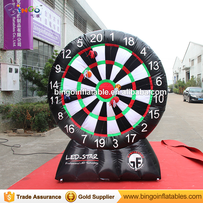 Hot PVC Tarpaulin inflatable foot soccer darts for sale