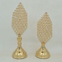Factory direct metal iron creative retro continental Candlestick export quality diamond shape ornaments