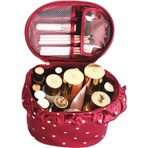 Love lace three-dimensional portable vat bag barrel cosmetic case for storing makeup brushes