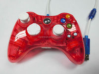 Transparent Blue Led Light Wired Gamepad For Micro Soft Xbox360 ...