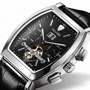 Mechanical Watch Men Tourbillon Date Calendar Men's Watches Waterproof Leather Automatic Wristwatch Support Dropshipping