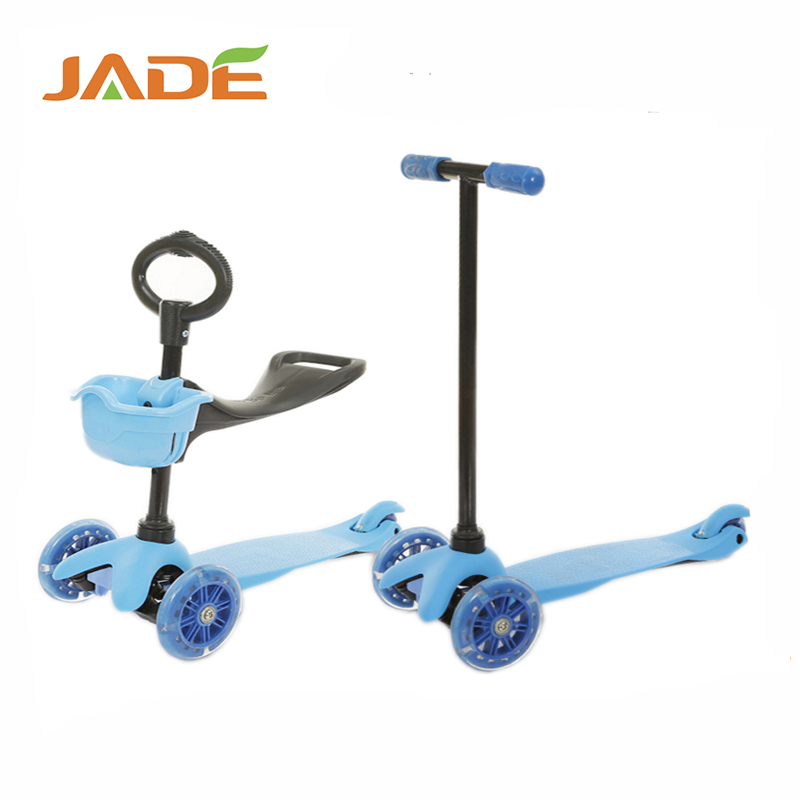 2017 3 wheels kids scooters children scooter with seat, 3 in 1
