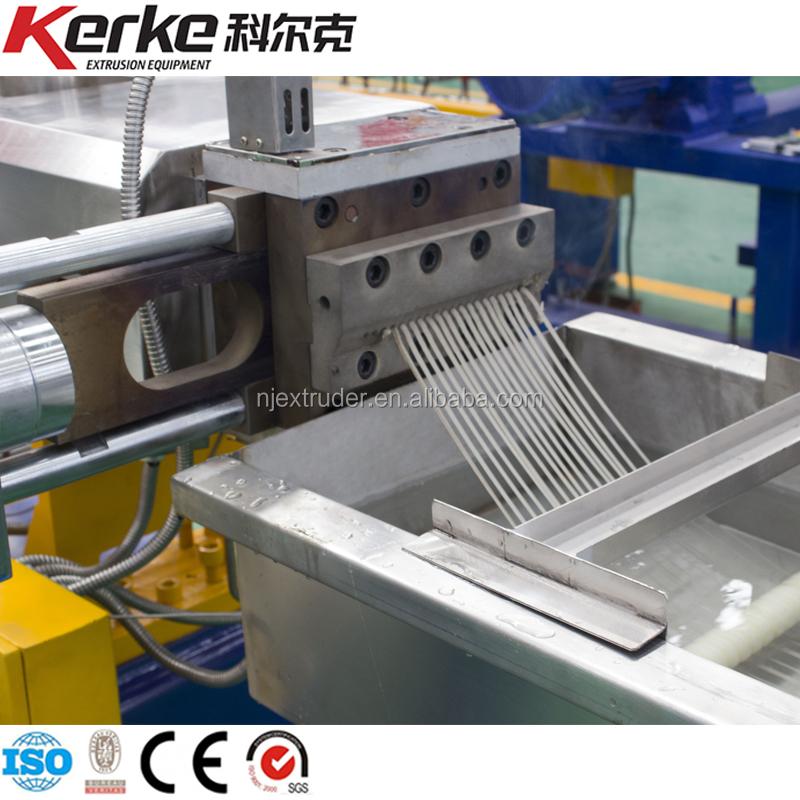 Máquina de fabricación de gránulos de plástico para reciclaje extrusora de doble tornillo PE