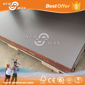Film Faced Plywood Poplar Core WBP Glue / Shuttering Plywood Price for Vietnam Export Products