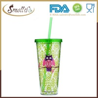Wholesale Acrylic 24 0z Double Wall Insulated Plastic Tumbler with Lids