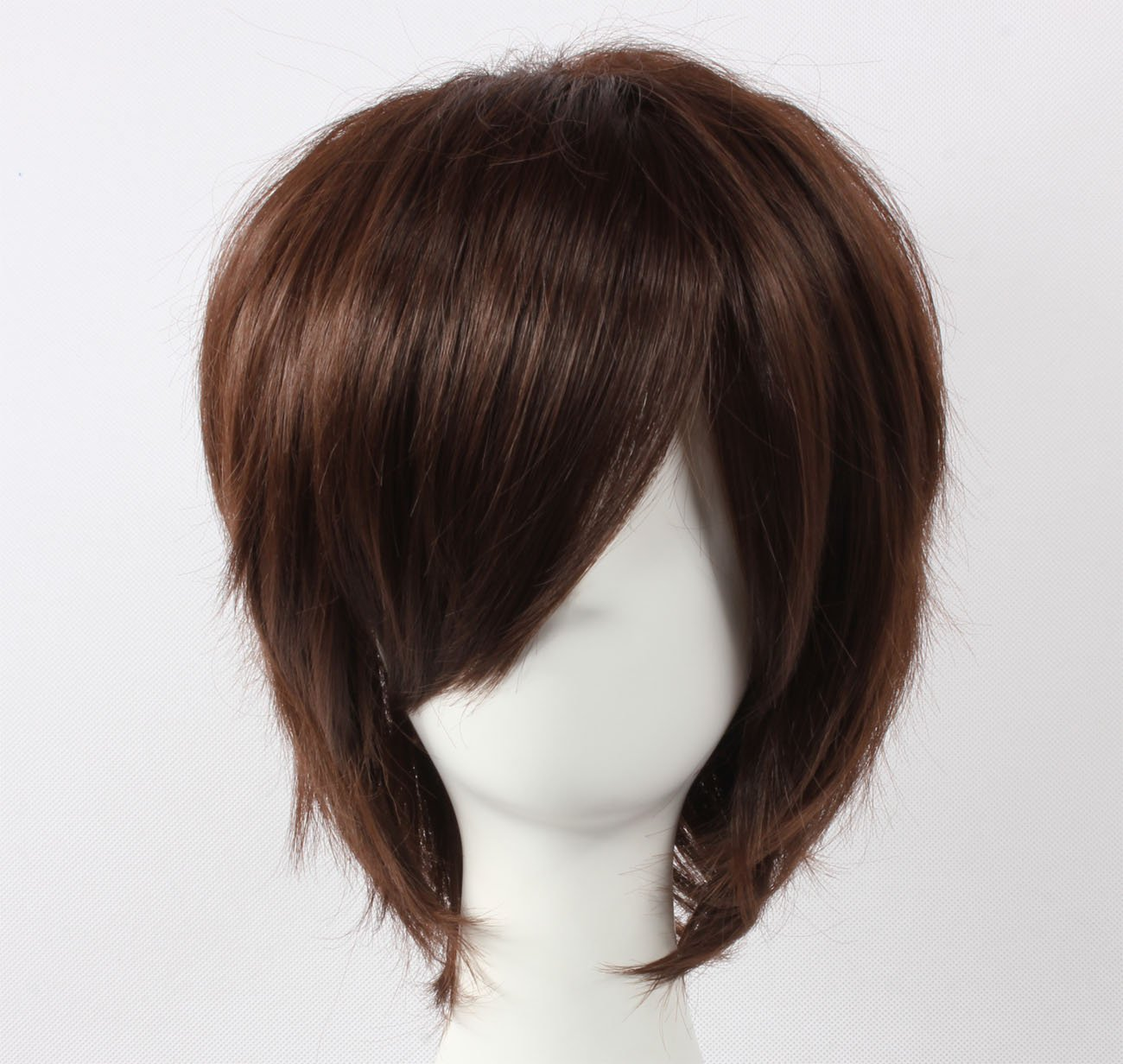 Coolsky Wig Dark Brown Wig Short Dark Brown Straight Wig Code Geass Wigs