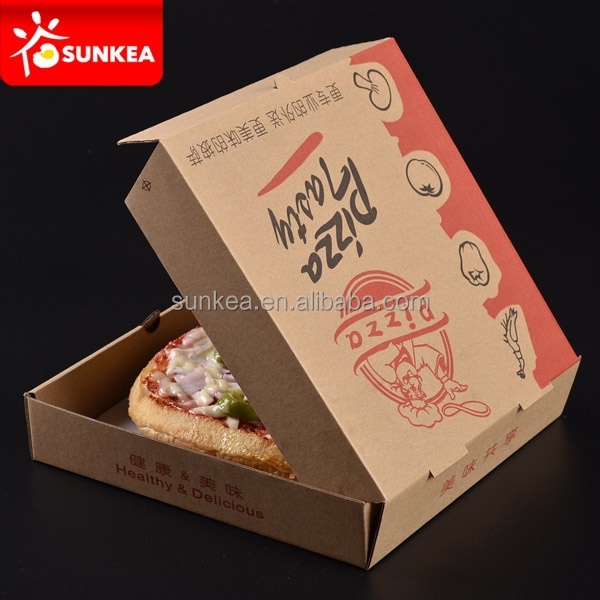 Custom kraft paper pizza delivery to go boxes restaurant