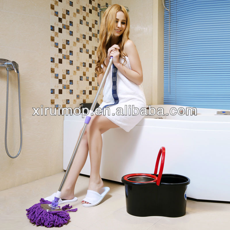 easy assemble microfiber spin floor mop as seen on TV (XR21)