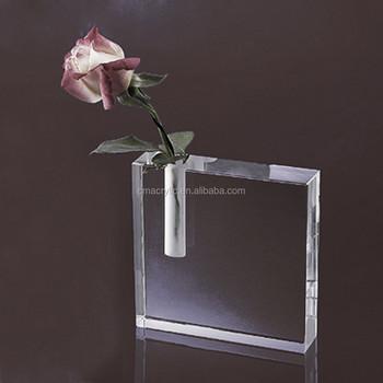 Popular Modern Square Shape Large Acrylic Vase Buy Large Acrylic