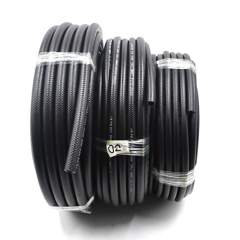 "3/8"" sae j30r6 flexible rubber marine fuel hose with ISO"