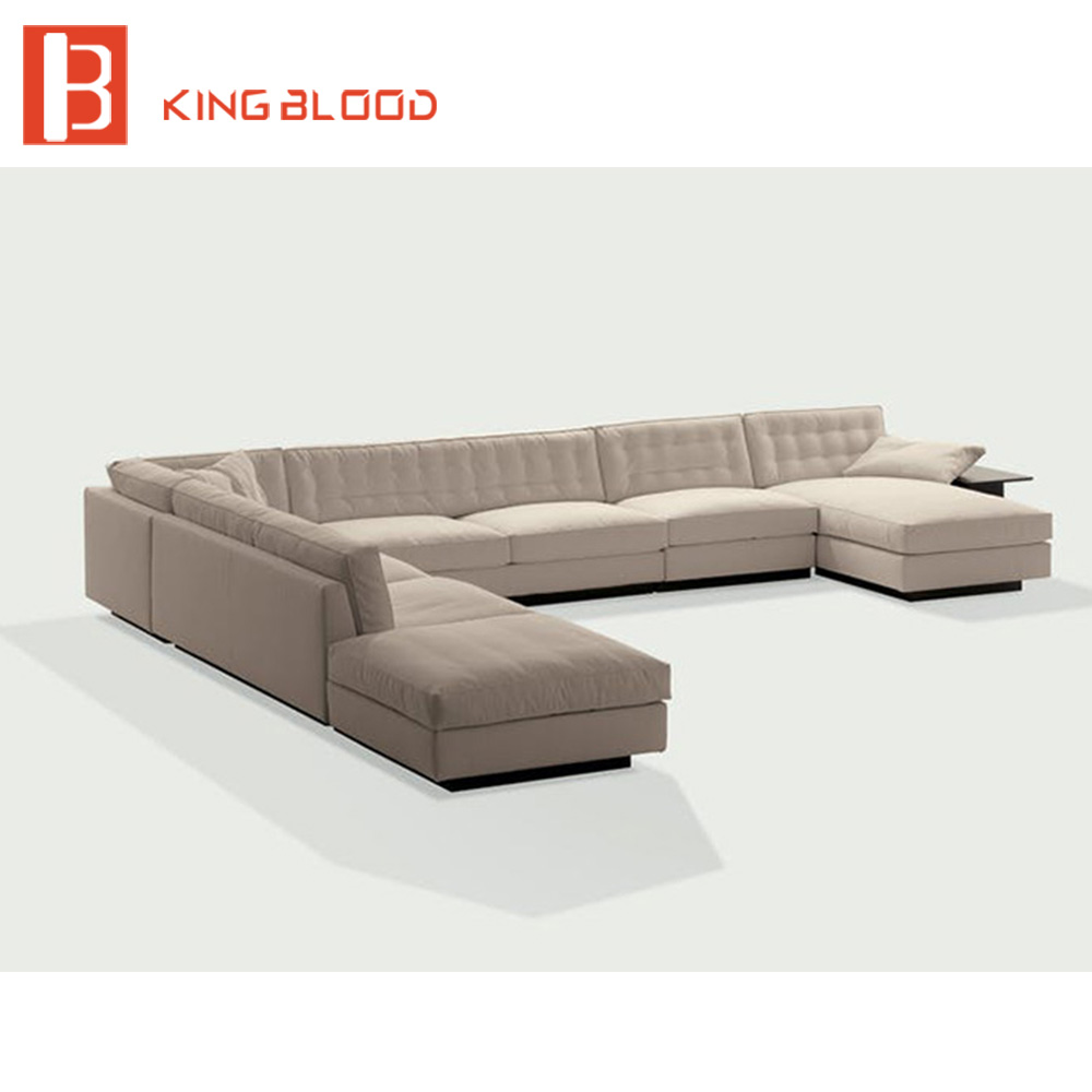 Luxury Italian Living Room 7 Seater Chaise Lounge Corner Sofa Design ...
