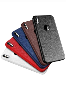 Customized for iPhone 6 7 8 10 Case Ultra Thin TPU Leather Litchi Texture Mobile Phone Accessories Soft TPU Skin Leather