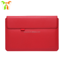 High Grade Red Genuine Leather Laptop Sleeve Envelope Case for Table PC