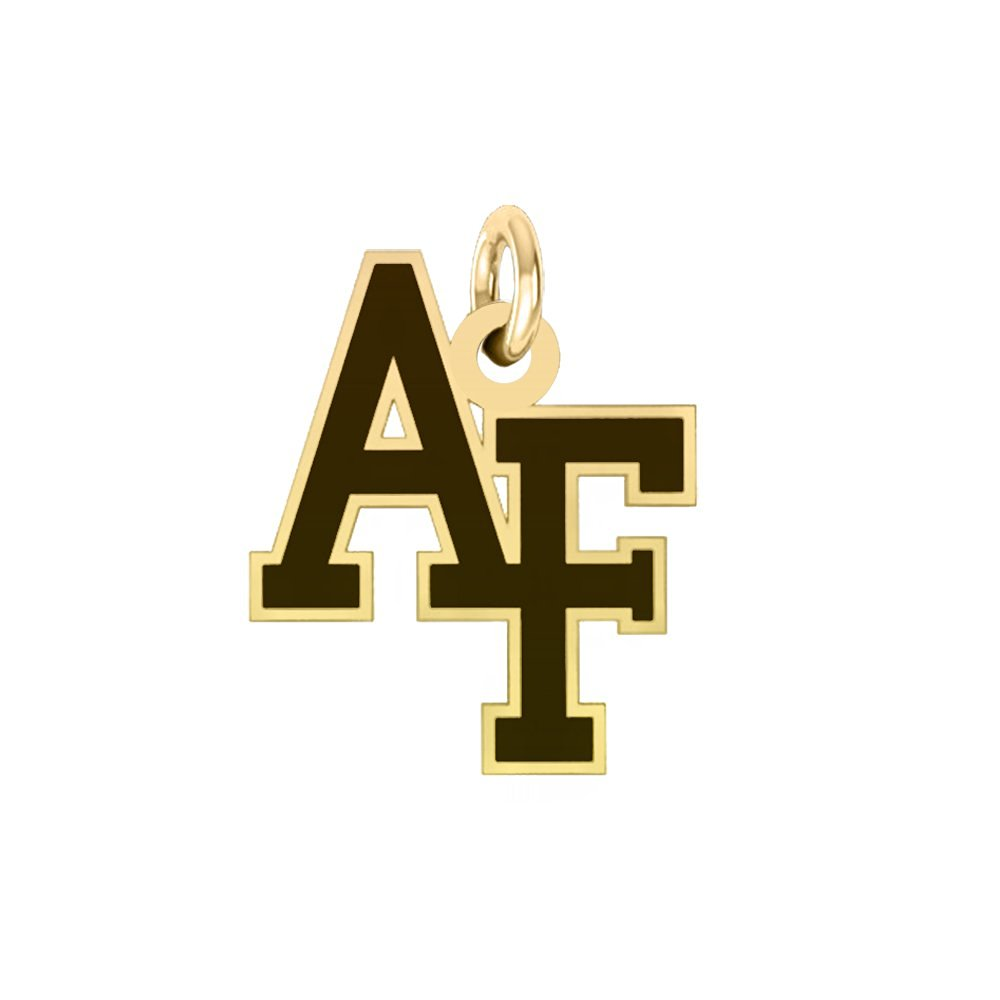 US Air Force Academy 14k Yellow Gold Cut Out Logo College Charm
