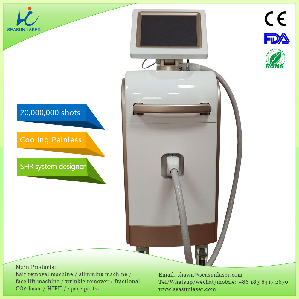Germany DIALS permanent hair removal painless treatment 600W 808nm diode laser photon hair