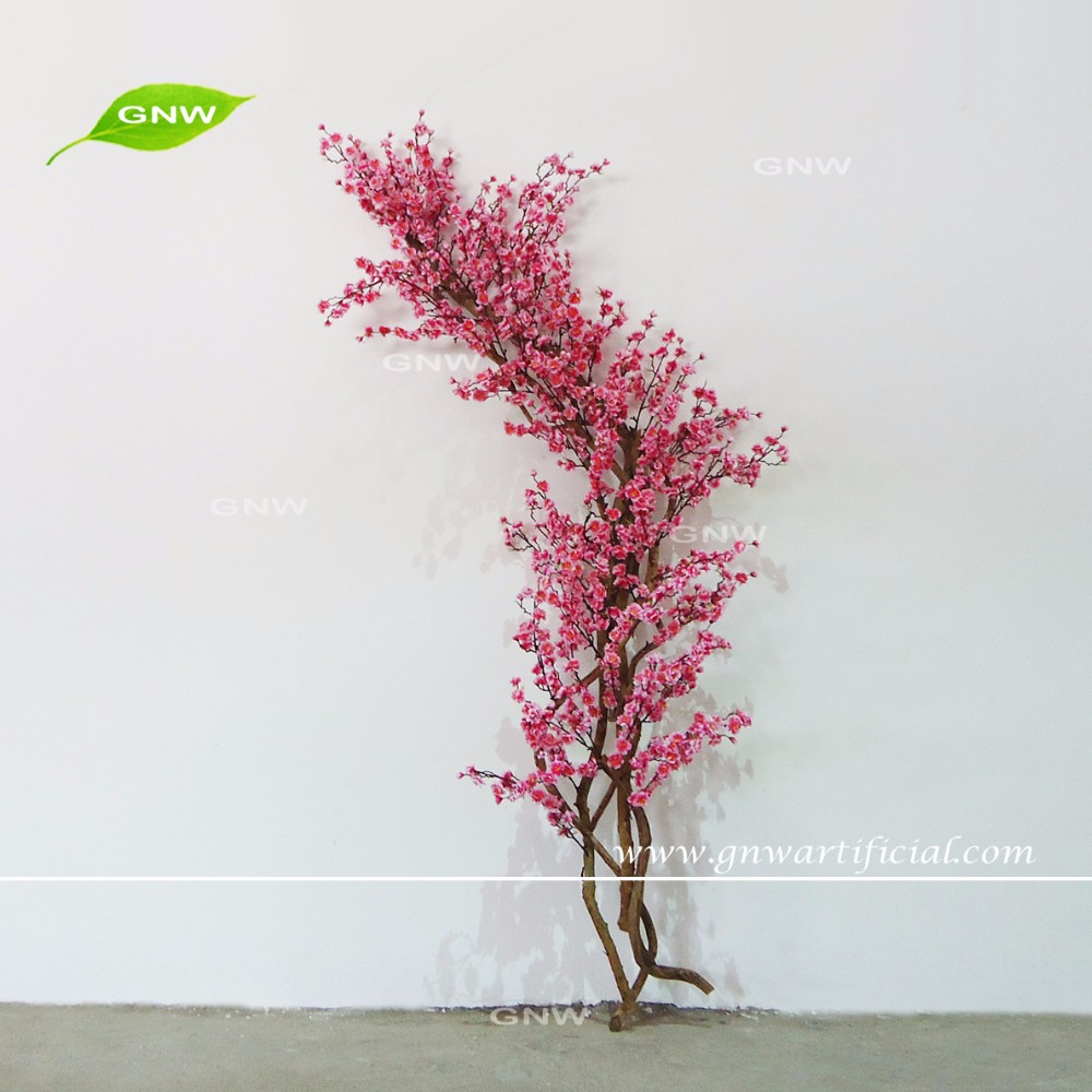 6ft Red Artificial Flowers Cherry Blossom Tree With Artificial