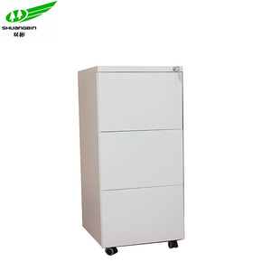 office use heavy duty metal moving pedestal 3 drawer cabinet