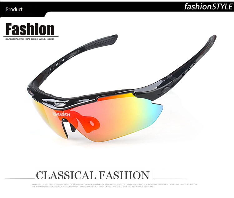 Outdoor polarized sports sunglasses Bicycle glasses Men Cycling Glasses UV400 Outdoor Sports Windproof Eyewear