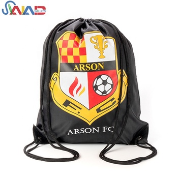 Heat transfer printing 210D polyester drawstring backpack bag