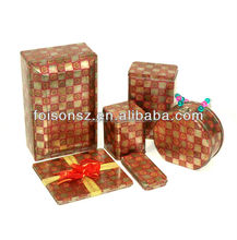 various beautiful series gift packaging tin box manufacture for decoration