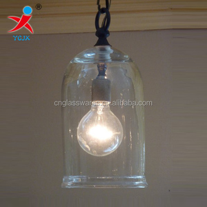decorative clear glass dome lamp shade /glass lamp cover/blown glass lighting