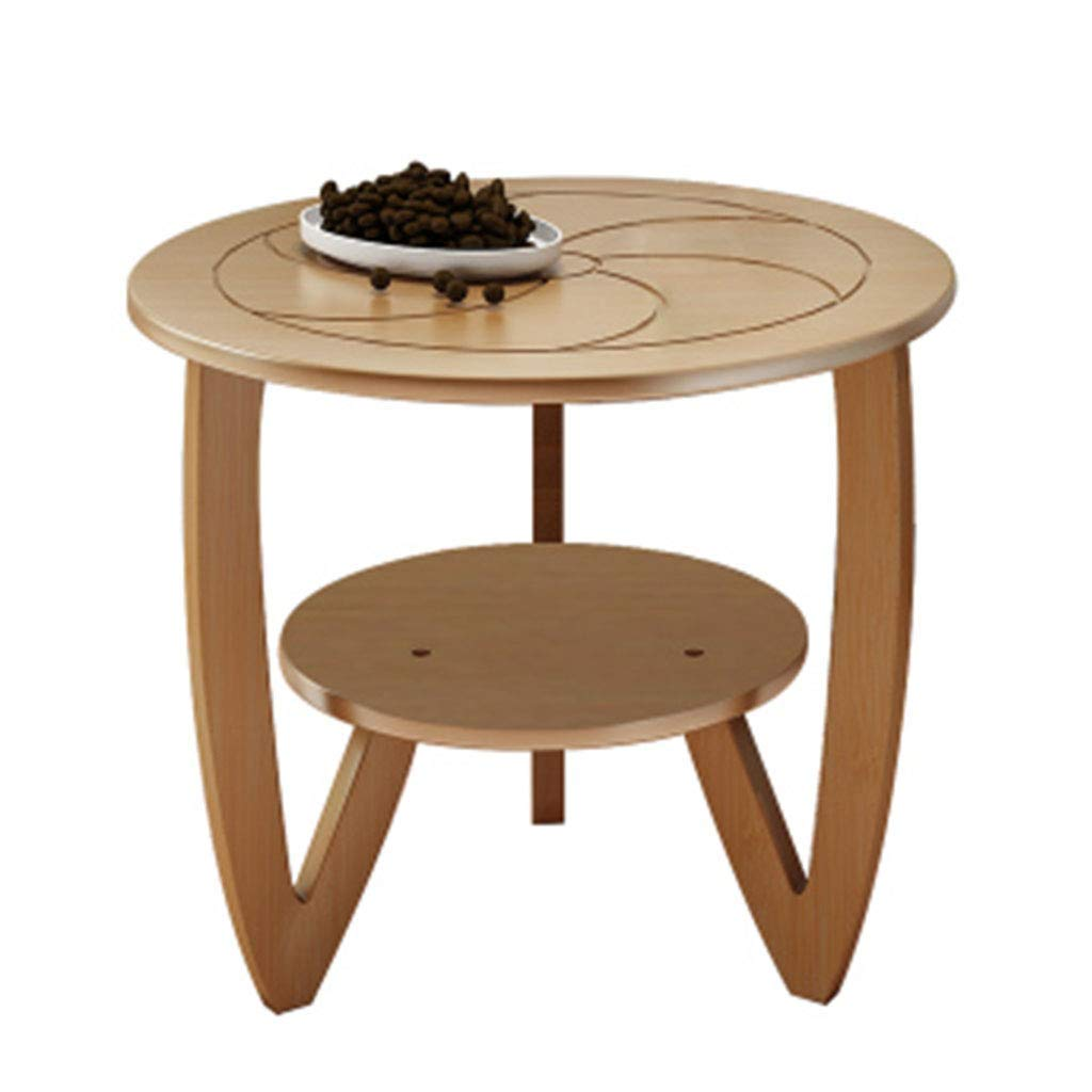Coffee Tables Dining Table Computer Table Living Room Double Balcony Table Round Table (Color : Beige, Size : 606057cm)