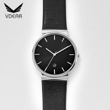 Most popular vdear stainless steel watch fashion custom quartz watches bezel japan movt