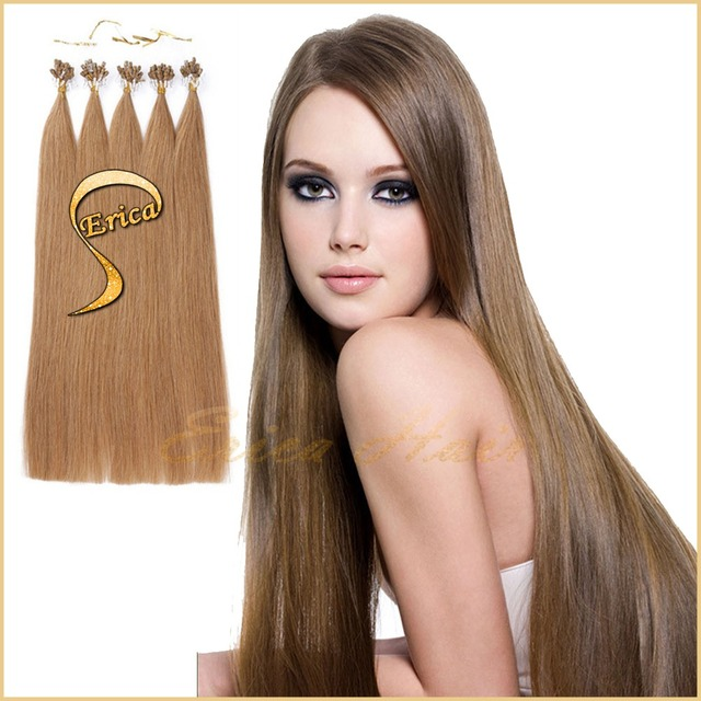Free Ship 7A Peruvian Virgin Micro Loop Hair Extensions 1 gram 100 pcs 14-26 inch Keratin Micro loop Remy Human Hair Extensions