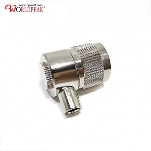 UHF right angle waterproof connector PL259 male rf coaxial cable connector UHF for RG58 RG400 RG142 RG402