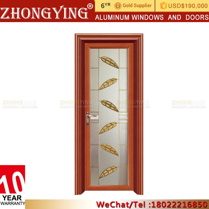 Half Size Aluminum Frame Lowes Gl Hinge Swing Door Interior Single Leaf Double Aluminium