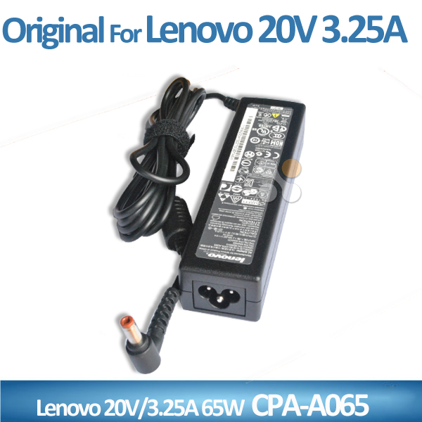 Alibaba wholesale laptop charger 65w 20v 3.25a 5.5*2.5mm long shape for lenovo laptop