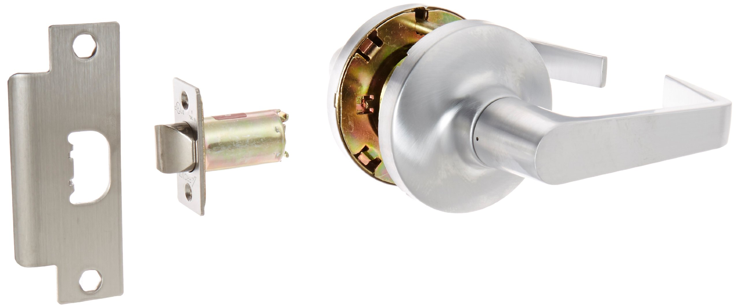 Pack of 1 1-3//8 to 1-3//4 Door Thickness Arrow Lock E Series Satin Chromium Occupancy Indicator Deadbolt Auxiliary Lock with Interchangeable Core