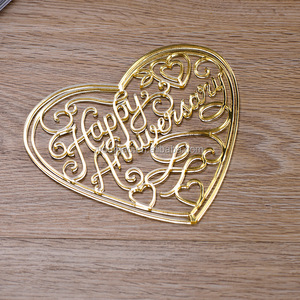 Wholesale creative DIY acrylic hollowed out decoration/Organic glass wall sticker/The heart-shaped candy box sticker