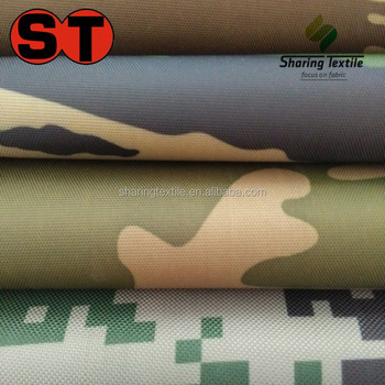 Wholesale Camouflage Sleeping Oxford Bag Fabric/Waterproof Outdoor Sleeping Bag Fabric/Downproof Sleeping Bag Fabric