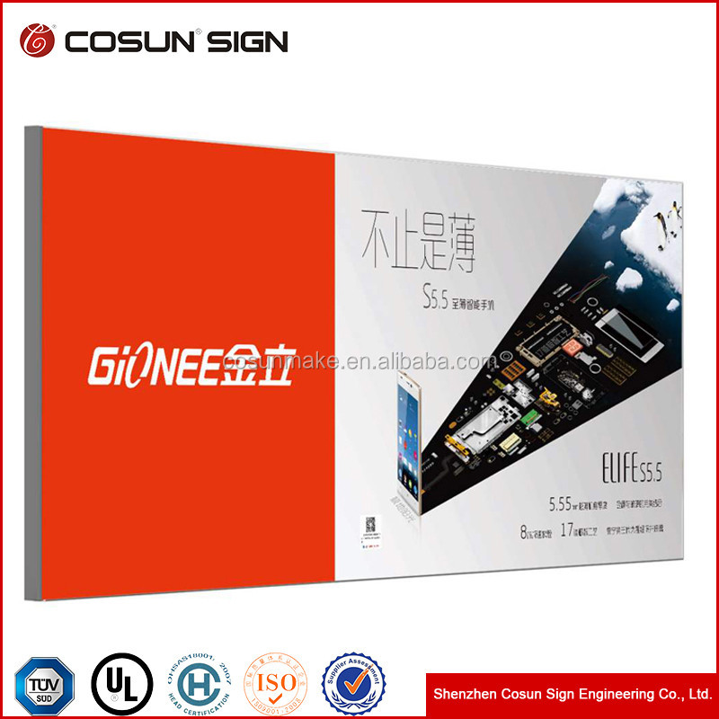 Energy-saving Easy to assemble and maintain led lightbox display